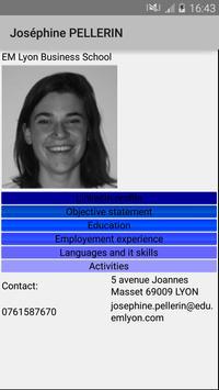 Joséphine PELLERIN CV poster