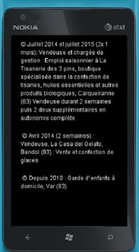 Lea Coquelle CV MobileApp apk screenshot