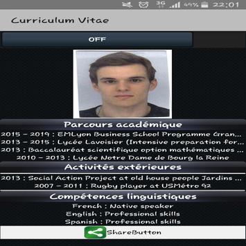 Olivier Berriex CV apk screenshot