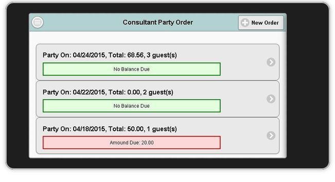 Consultant Party Order apk screenshot
