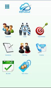 ERP-in-Cloud CRM App poster