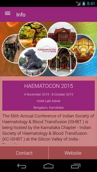 HAEMATOCON 2015 apk screenshot