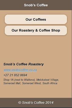 Snob's Coffee poster