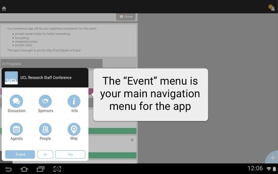 UCL HR Events apk screenshot