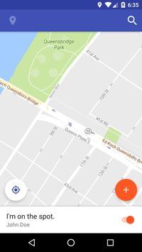 SendIn - message in location apk screenshot