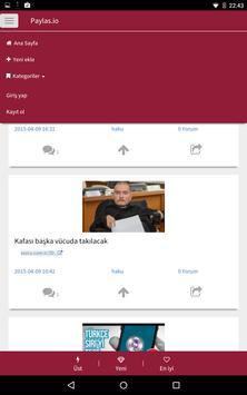 Paylas.io - Gündemi takip et apk screenshot