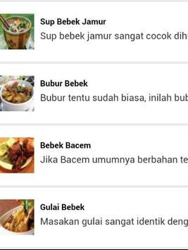 Resep Bebek Enak apk screenshot