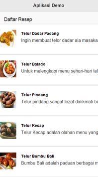 Resep Telur Enak apk screenshot