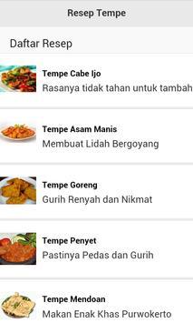 Resep Tempe apk screenshot