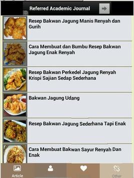Aneka Resep Bakwan Jagung apk screenshot