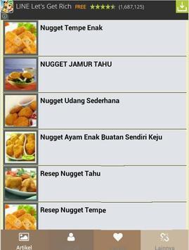nugget recipe collection apk screenshot