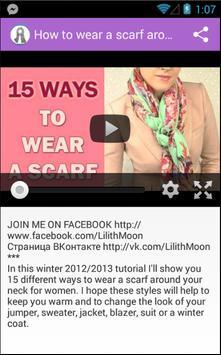 Scarves for Women Video Tutor apk screenshot