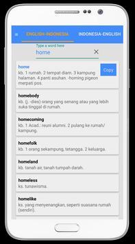 English Indonesia Dictionary apk screenshot