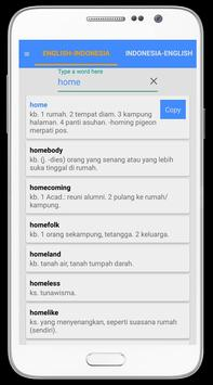 English - Indonesia Dictionary apk screenshot