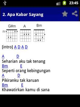 Chord Gitar Apa Kabar Sayang apk screenshot