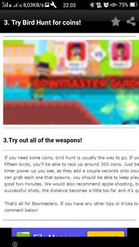Guide For New Bowmasters apk screenshot