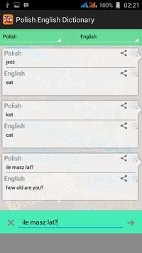 Polish English Dictionary apk screenshot