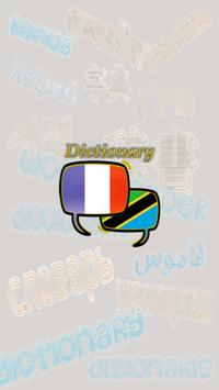 French Swahili Dictionary poster