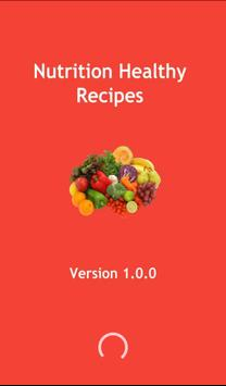 Nutrition healthy recipes poster