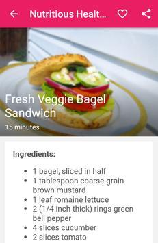 Nutritious healthy recipes apk screenshot