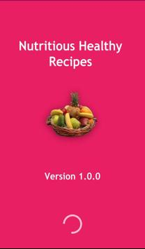 Nutritious healthy recipes poster