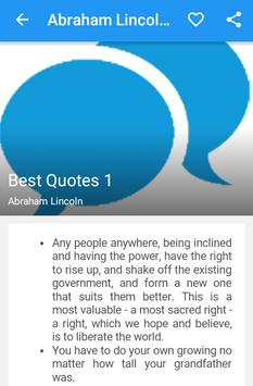 Abraham Lincoln Quotes apk screenshot