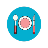 Cooking recipes healthy icon