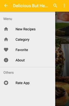 Delicious But Healthy Recipes apk screenshot