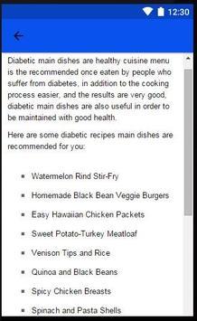 Diabetic Main Dhises apk screenshot