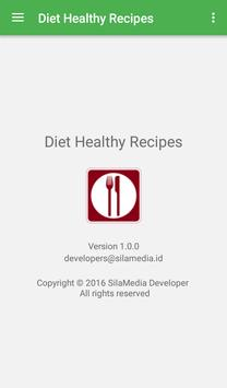 Diet healthy recipes apk screenshot