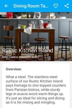 Dining Room Table apk screenshot