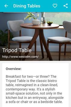 Dining Tables apk screenshot