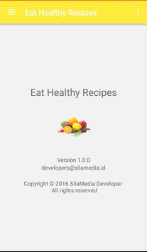 Eat healthy recipes apk screenshot