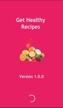 Get healthy recipes poster