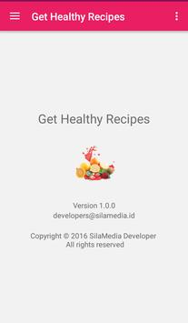 Get healthy recipes apk screenshot