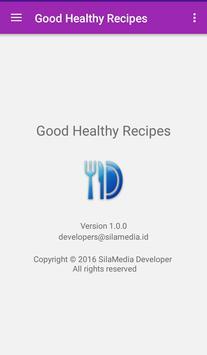 Good healthy recipes apk screenshot