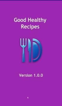 Good healthy recipes poster