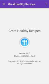 Great healthy recipes apk screenshot