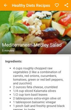 Healthy Diets Recipes apk screenshot