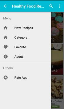 Healthy food recipes apk screenshot