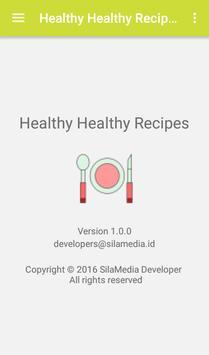 Healthy healthy recipes apk screenshot