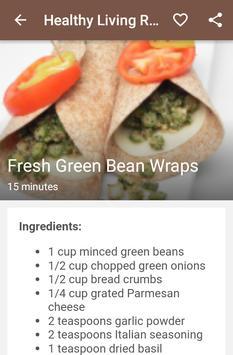 Healthy living recipes apk screenshot