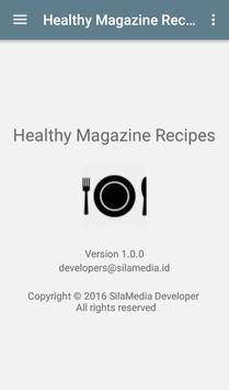 Healthy Magazine Recipes apk screenshot