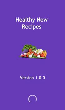 Healthy new recipes poster