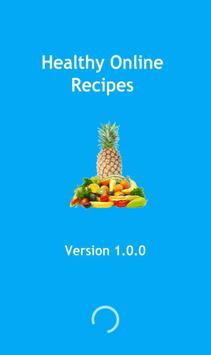Healthy online recipes poster