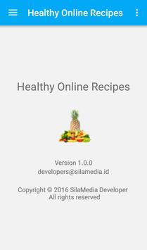 Healthy online recipes apk screenshot