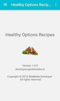Healthy option recipes apk screenshot