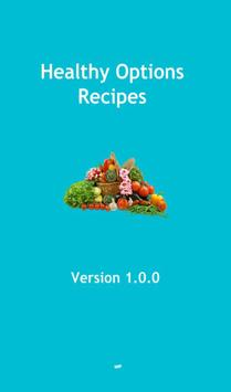 Healthy option recipes poster