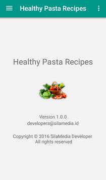 Healthy pasta recipes apk screenshot