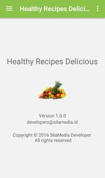 Healthy recipes delicious apk screenshot